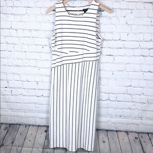 Ann Taylor Factory knee length striped dress